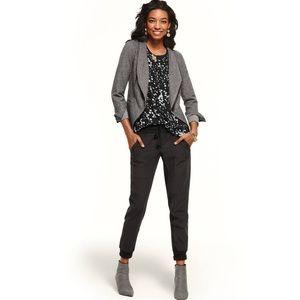 CAbi Rebel Asymmetrical Zip Up Ponte Knit Jacket
